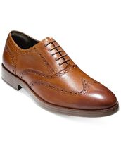 Cole Haan Street Style Plain Leather Oxfords