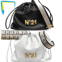 N21 numero ventuno Casual Style 2WAY Plain Leather Purses Bucket Bags
