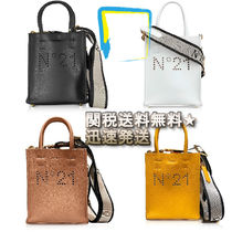 N21 numero ventuno Casual Style 2WAY Plain Leather Totes