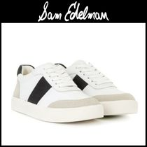 Sam Edelman Round Toe Leather Low-Top Sneakers