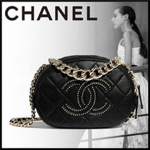 CHANEL Casual Style Lambskin Blended Fabrics 2WAY Chain Plain