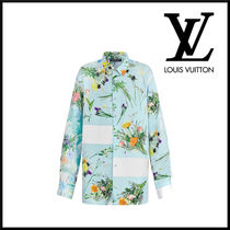 Louis Vuitton Flower Patterns Silk Long Sleeves Long Sleeve T-shirt