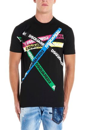 D SQUARED2 Cotton Short Sleeves Logo Luxury T-Shirts