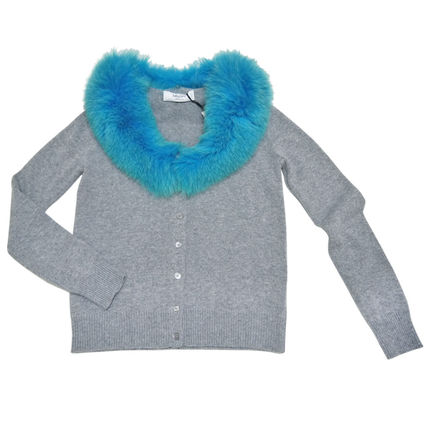 Short Casual Style Wool Blended Fabrics Long Sleeves Plain