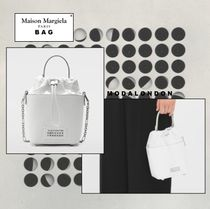Maison Margiela ◯ Maison Margi 2WAY Plain Leather Office Style Elegant Style
