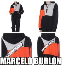 Marcelo Burlon Pullovers Sweat Street Style Long Sleeves Hoodies