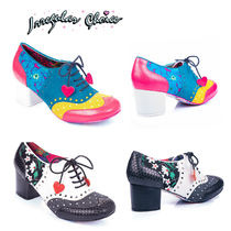 Irregular Choice Flower Patterns Dots Round Toe Casual Style Blended Fabrics