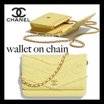 CHANEL Casual Style 2WAY Chain Plain Party Style Elegant Style