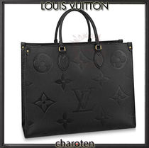 Louis Vuitton MONOGRAM EMPREINTE Monogram Unisex Calfskin A4 3WAY Plain Leather Logo Totes
