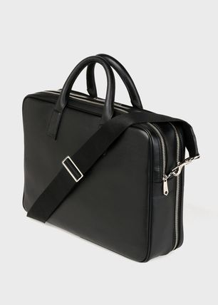 Paul Smith 2WAY Plain Leather Logo Business & Briefcases