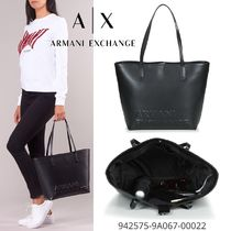 A/X Armani Exchange Casual Style Faux Fur Blended Fabrics A4 Office Style