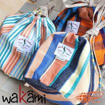 BEAMS Stripes Other Check Patterns Unisex Collaboration Purses