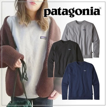 Patagonia Sweatshirts Plain Short Sleeves Logo Outdoor Sweatshirts