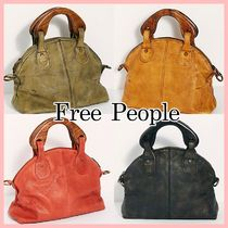 Free People Casual Style 2WAY Plain Leather Totes