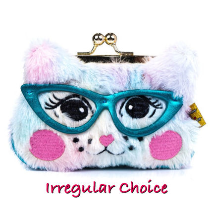 Faux Fur Other Animal Patterns Small Wallet Coin Cases