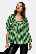 TOPSHOP Other Check Patterns Casual Style Street Style Cropped