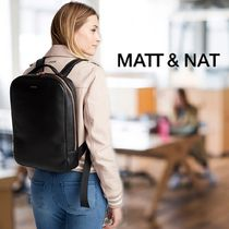 MATT&NAT Faux Fur A4 Office Style Backpacks