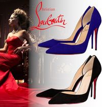 Christian Louboutin Suede Velvet Plain Pin Heels Party Style Office Style