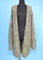 Cable Knit Casual Style Long Sleeves Plain Office Style