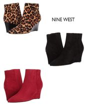 Nine West Casual Style Suede Plain Pin Heels Ankle & Booties Boots