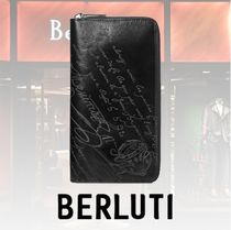 Berluti Calfskin Long Wallet  Logo Long Wallets