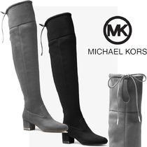 Michael Kors Casual Style Plain Block Heels Over-the-Knee Boots