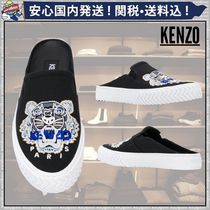 KENZO Round Toe Rubber Sole Casual Style Street Style Plain