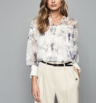 REISS Flower Patterns Long Sleeves Elegant Style Shirts & Blouses