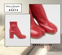 Maison Margiela Tabi ◯ Maison Margiela Calfskin Tabi boots Plain Leather Party