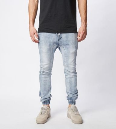 Ron Herman Joggers Unisex Denim Blended Fabrics Street Style Plain Cotton 2