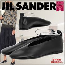 Jil Sander Plain Leather Ballet Shoes