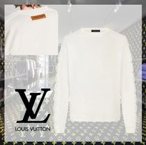 Louis Vuitton Crew Neck Long Sleeves Plain Cotton Long Sleeve T-shirt