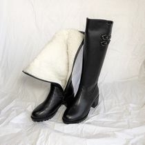 Round Toe Casual Style Suede Faux Fur Blended Fabrics