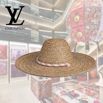 Louis Vuitton Straw Boaters Straw Hats