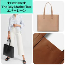 Everlane Unisex A4 Plain Leather Office Style Totes
