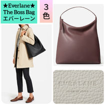 Everlane Casual Style Street Style Plain Leather Office Style Totes
