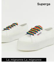 SUPERGA Platform Rubber Sole Casual Style Street Style Plain