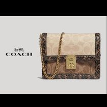 Coach Monogram Casual Style 2WAY Leather Party Style Python