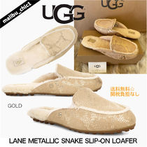UGG Australia LANE Moccasin Rubber Sole Casual Style Sheepskin Suede
