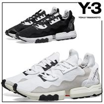 Y-3 Street Style Collaboration Bi-color Sneakers