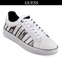 Guess Round Toe Lace-up Casual Style Python Low-Top Sneakers