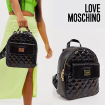 Love Moschino Casual Style Plain Backpacks