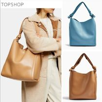 TOPSHOP Casual Style Faux Fur A4 2WAY Plain Office Style