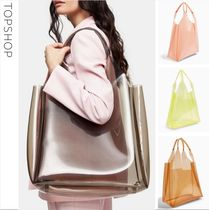 TOPSHOP Casual Style A4 Plain Totes