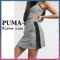 PUMA Short Other Plaid Patterns Street Style Cotton Logo