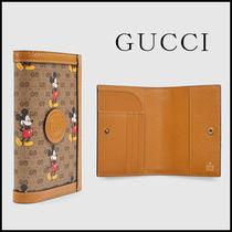 GUCCI GG Supreme Unisex Blended Fabrics Street Style Collaboration