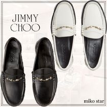 Jimmy Choo Star Leather Loafer & Moccasin Shoes