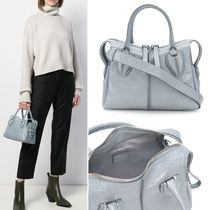 TOD'S D-Styling Casual Style 2WAY Plain Leather Office Style Elegant Style