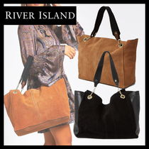 River Island Suede A4 Office Style Python Totes
