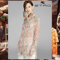 ETRO Paisley Silk Long Sleeves Shirts & Blouses